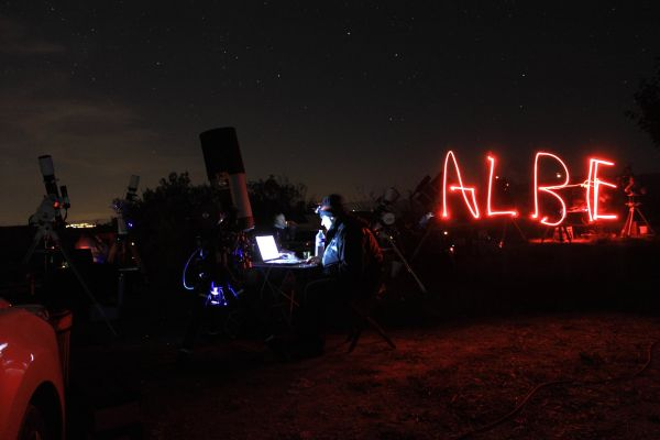 light painting albe